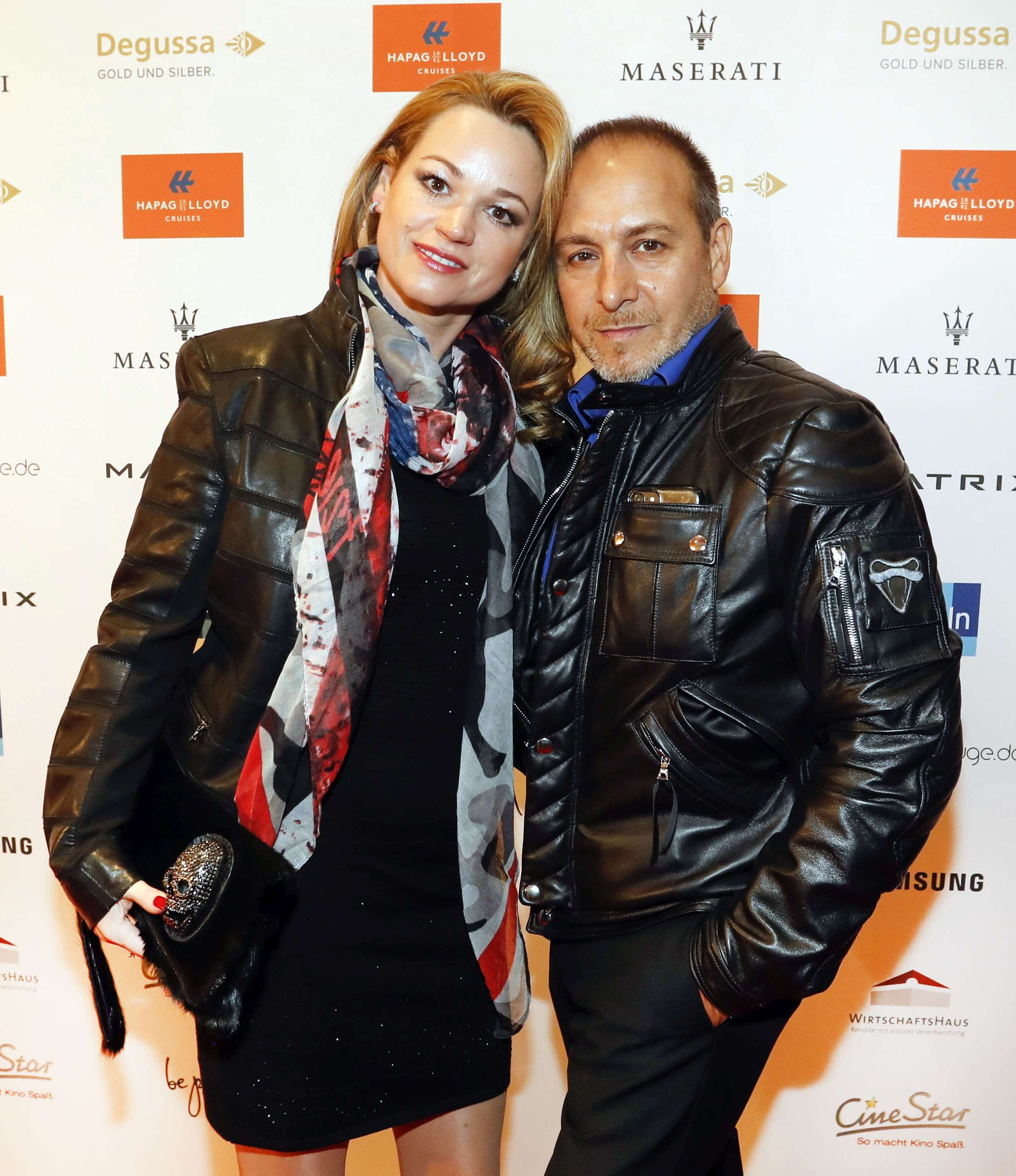 Katja Ohnech, Erdogan Atalay bei Movie meets Media im Palace Hotel Berlin. © Agentur Baganz